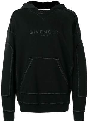 Givenchy Blurred distressed hoodie