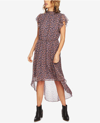 1 STATE 1.state Floral-Print High-Low Dress