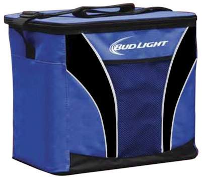 Caribbean Joe CHABY Chaby Budweiser 24 Can Cooler Bag Mesh Pocket and Shoulder Strap (Red)