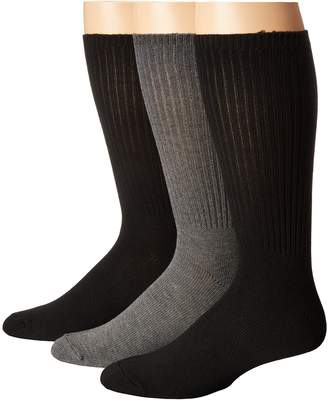 Steve Madden 3-Pack Crew - Ribbed Men's Crew Cut Socks Shoes