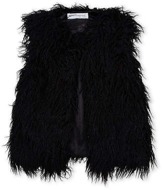 Minoti (Girls 7-16) Black Faux Fur Vest