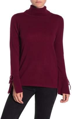 Sofia Cashmere Cashmere Bell Sleeve Turtleneck Sweater