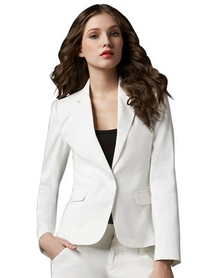 Alice + Olivia Kim Structured-Shoulder Blazer