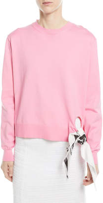 Calvin Klein Crewneck Long-Sleeve Sweatshirt w/ Bandana Tie
