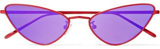 Cat Eye Poppy Lissiman - Chi Chi Cat-eye Metal Sunglasses - Purple