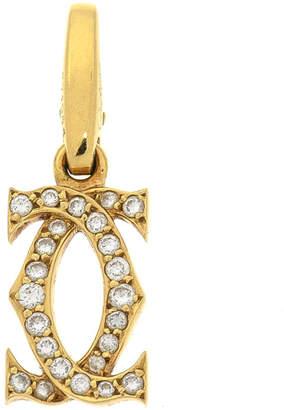 Cartier Double C Logo Breloque Diamond Bracelet Charm - Vintage