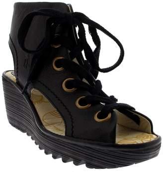 Fly London Womens Yaba 702 Leather Sandals 38 EU