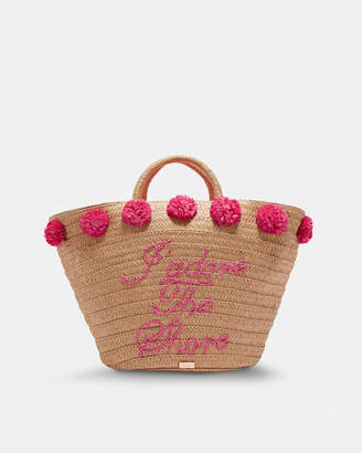 Ted Baker BESSIE 'J'adore the Shore' straw basket bag