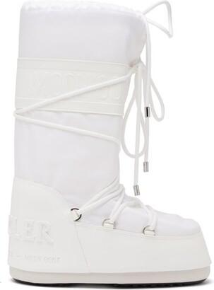 Moncler X Moon Boot Apres Ski Boots - Womens - White