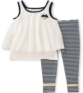 Juicy Couture Big Girls' 2 Piece Pant Set-Layered