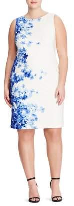 Lauren Ralph Lauren Toralina Caspian Sea Border Sheath Dress