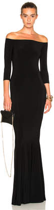 Norma Kamali Off Shoulder Fishtail Dress $295 thestylecure.com