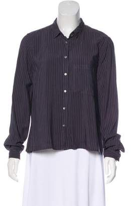 Xirena Striped Button-Up Top