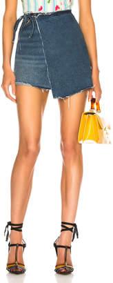 GRLFRND Ella High-Rise Wrap Skirt