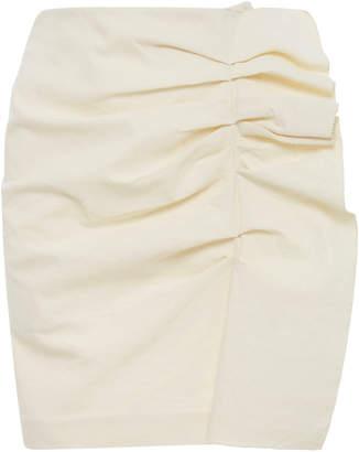 Isabel Marant Lefly Ruffled Cotton-Blend Mini Skirt