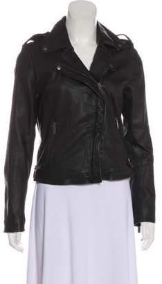 Line Leather Moto Jacket