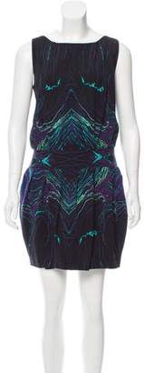 Brian Reyes Printed Silk Dress