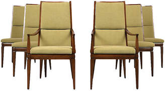 One Kings Lane Vintage Set of Six Mid-Century Dining Chairs - Castle Antiques & Design