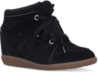 Isabel Marant Velvet Bobby Wedge Sneakers 50