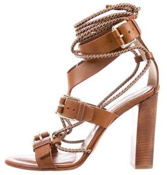 Etro Leather Cage Sandals