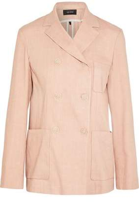 Isabel Marant Double-Breasted Linen-Blend Blazer