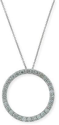 Roberto Coin 18K White Gold & Diamond Circle Pendant Necklace