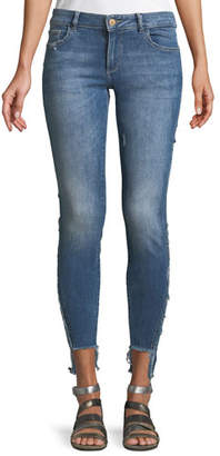 DL1961 DL 1961 Emma Power Low-Rise Step-Hem Legging Jeans