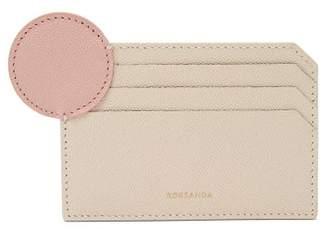 Roksanda Dot Bi Colour Leather Cardholder - Womens - White Multi