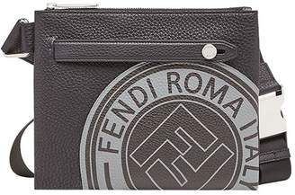 Fendi logo print messenger bag