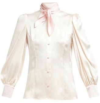 9deead2e34344 Edeltrud Hofmann - Nico Pussy Bow Bishop Sleeve Silk Blouse - Womens -  Cream Multi