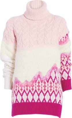 Prabal Gurung Riyu Intarsia Turtleneck Sweater