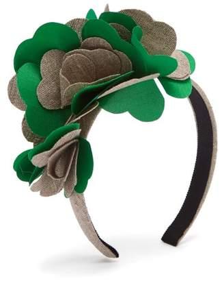 Benoit Missolin Albertine Linen Blend Headband - Womens - Green