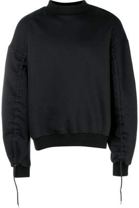 Oamc gathered sleeves sweatshirt