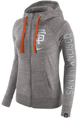 Nike Women's San Francisco Giants Gym Vintage Full Zip Hooded Sweatshirt