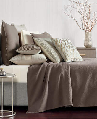 Hotel Collection Como Cotton King Coverlet, Created for Macy's Bedding