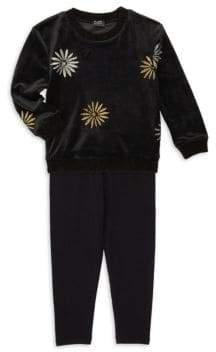 Splendid Girl's x Margherita Missoni Daisy Foil Print Sweater& Track Pants Set
