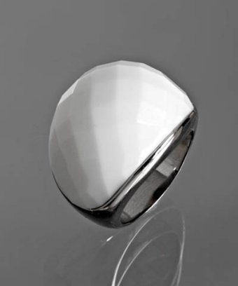 Jardin silver faceted stone cocktail ring