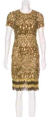 Naeem Khan Silk Beaded Dress w/ Tags