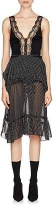 Balenciaga Women's Voluminous Polka Dot Chiffon Dress