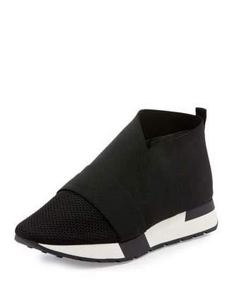 Balenciaga Elastic & Mesh High-Top Sneaker, Black/White $565 thestylecure.com