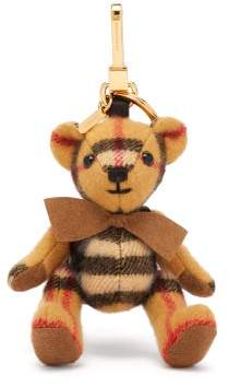 Burberry Thomas Bear Backpack House Check Cashmere Key Ring - Womens - Brown Multi