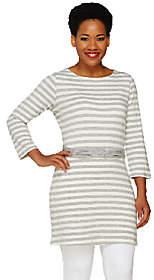 Liz Claiborne New York Striped Tunic w/ KnottedWaist Belt
