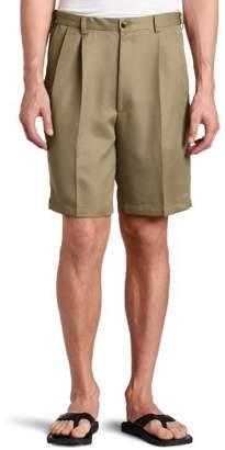 Haggar Men's Big-Tall Cool 18 Gabardine Hidden Expandable-Waist Pleat Short
