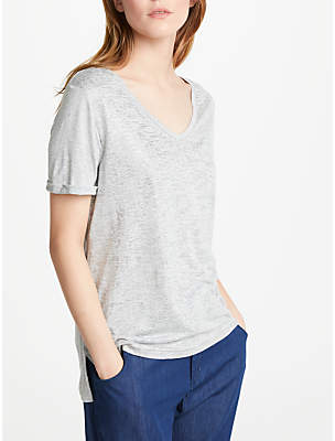 Great Plains Let It Shine T-Shirt, Grey Shimmer