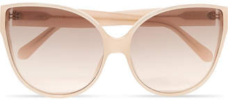 Linda Farrow Oversized Cat-eye Acetate Sunglasses - Pink