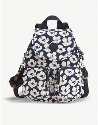 Kipling Ladies Dark Blue Firefly Up Nylon Backpack
