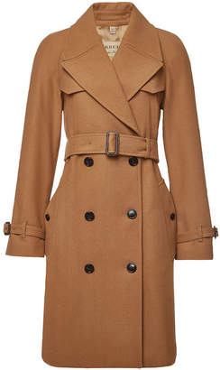 Burberry Cranston Coat with Wool and Cashmere