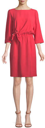 Emporio Armani 3/4-Sleeve Tie-Waist Dress