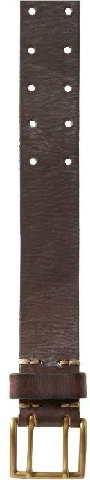 Double-pronged leather belt