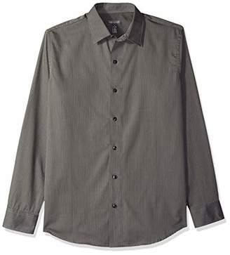 Van Heusen Men's Stripe Sateen Long Sleeve Shirt